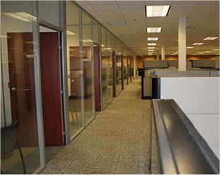 Administration Area, De-mountable walls, office area